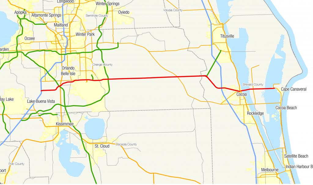 Florida State Road 528 - Wikipedia - Map Of Florida Beaches Near Orlando