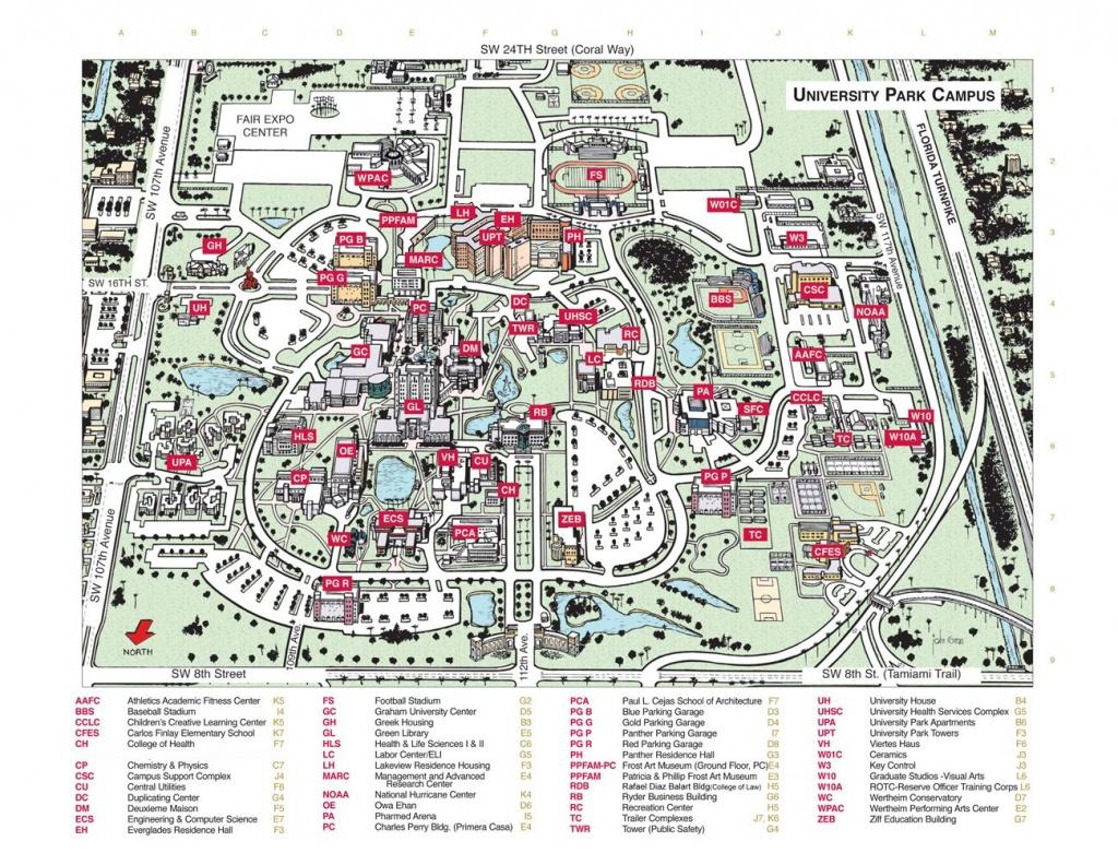 Florida State University Campus Map - State College Of Florida Bradenton Campus Map