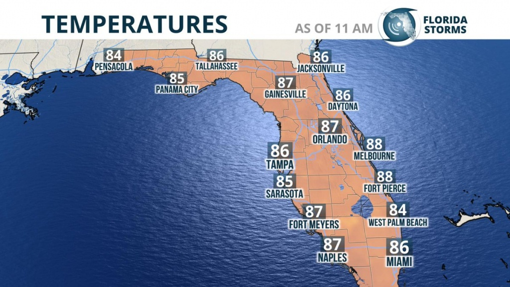 "Florida Storms On Twitter: ""heat Index #fl Update. Feels Like The - Florida Heat Index Map"