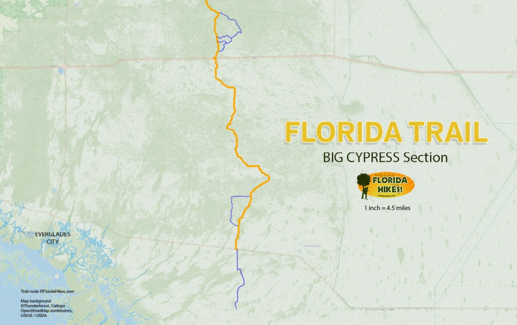 Florida Trail, Big Cypress | Florida Hikes! - Tamiami Trail Florida Map