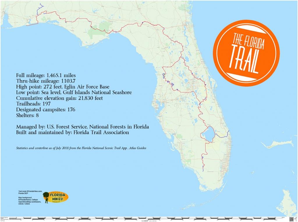 Florida Trail | Florida Hikes! - Land O Lakes Florida Map
