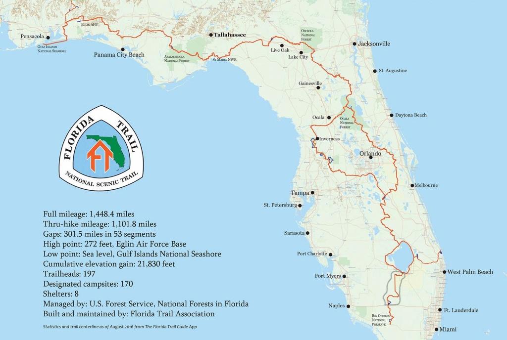 Florida Trail I75 To Lake Okeechobee | Dvk Outdoors - Florida Hiking Trails Map