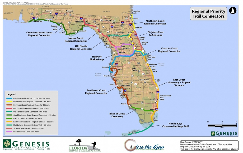 Florida Trail Map   D1Softball - Pinellas Trail Map Florida