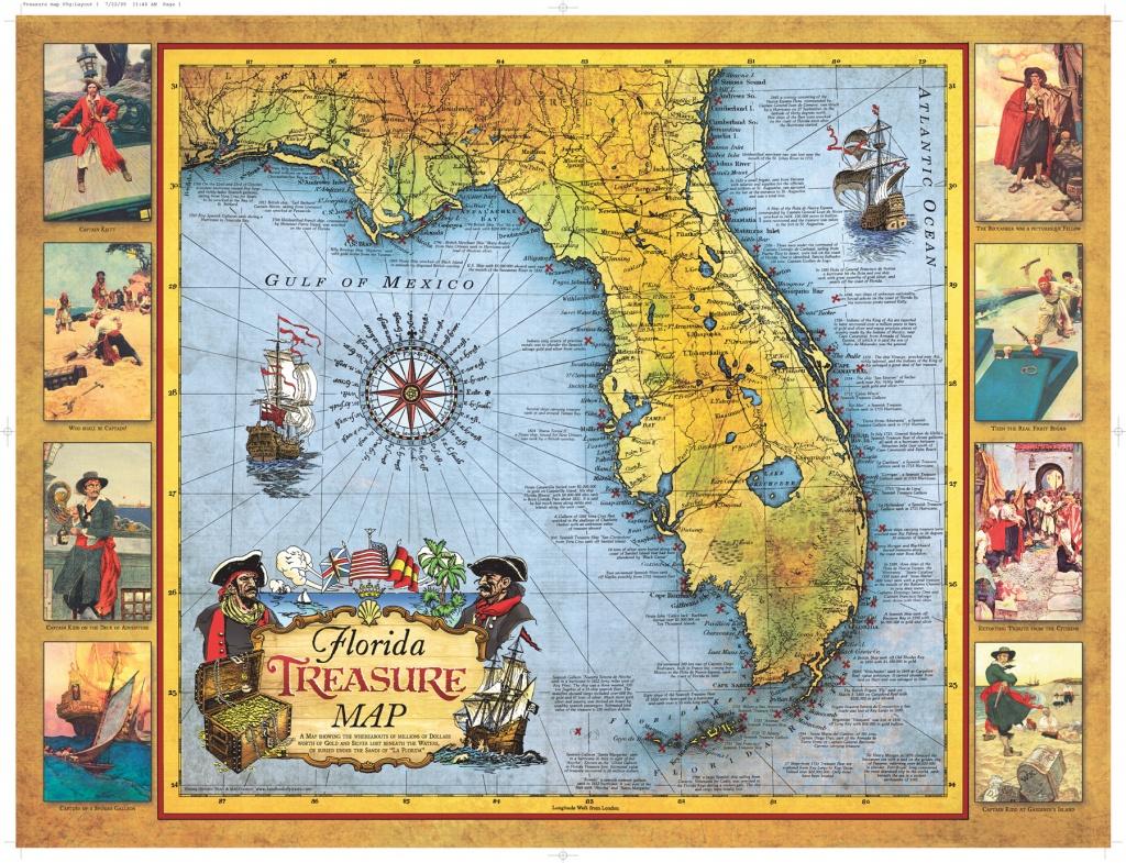 Florida Treasure Map   Historic Print & Map Company - Historic Florida Maps