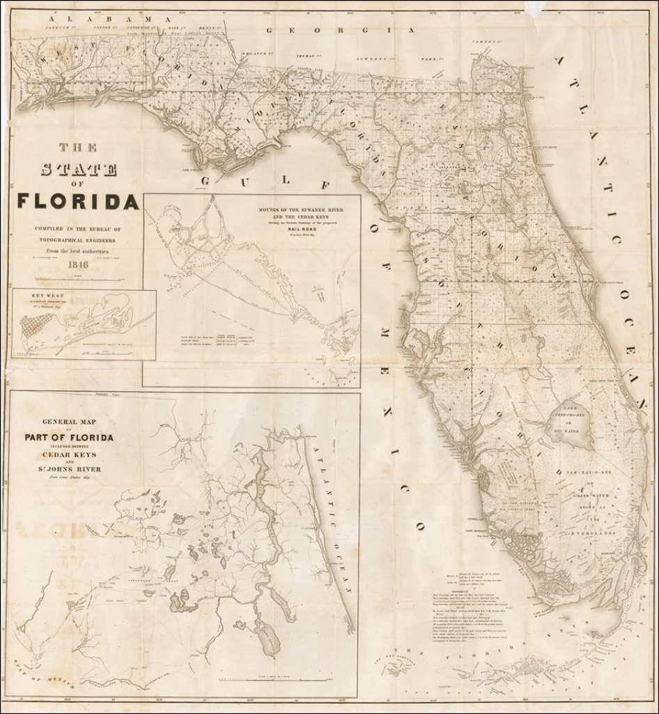Florida Vintage Road Maps Track The Growth Of The State - Vintage Florida Map