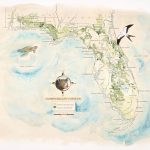 Florida Wildlife Corridor Expedition Watercolor Map Print   Where Is Watercolor Florida On A Map