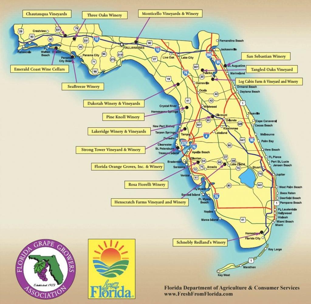 Florida Wine Regions Map | Wine Regions | Florida Trail, Florida - Florida Winery Map