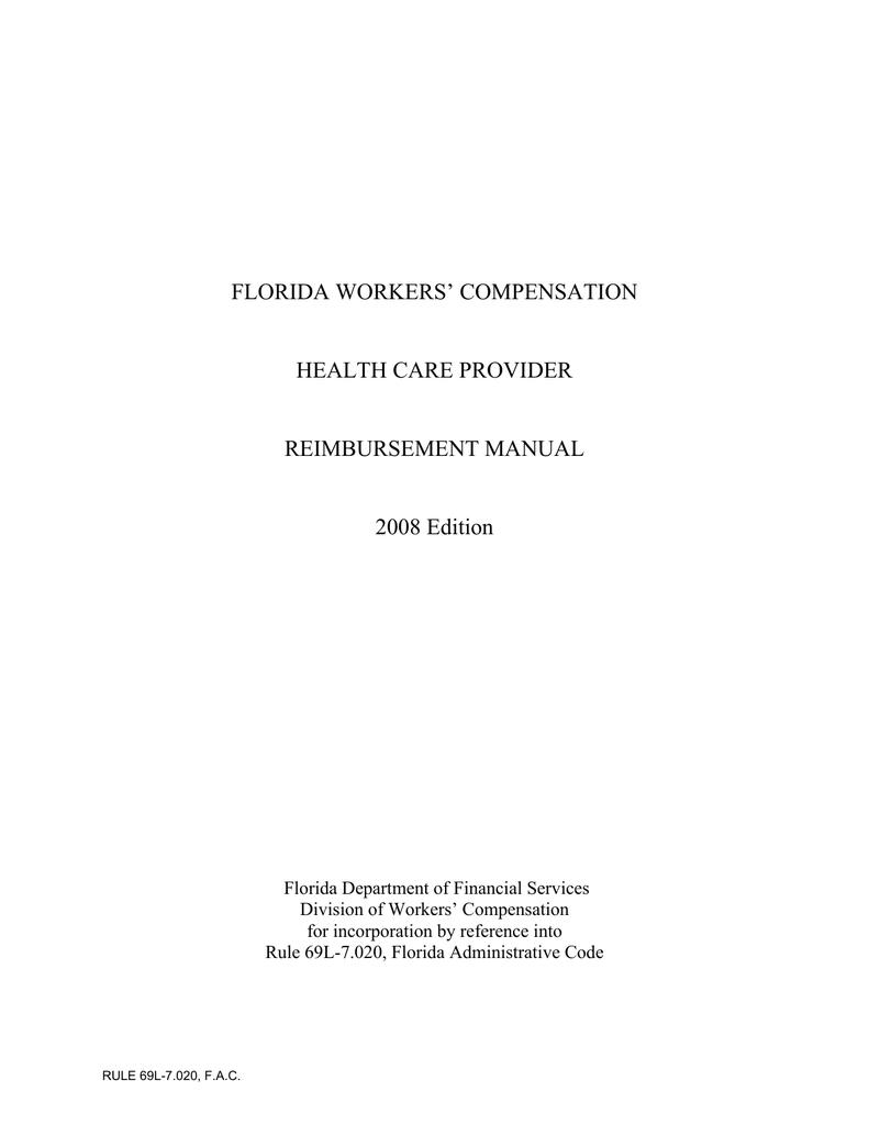 Florida Workers' Compensation Health Care Provider Reimbursement Manual - Medicare Locality Map Florida