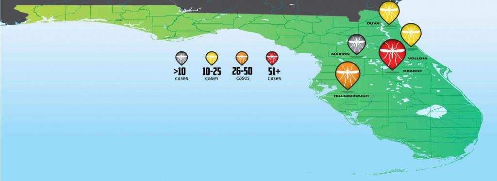 Florida Zika Virus Outbreak Tracking Map - Turner Pest Control - Zika Virus Florida Map