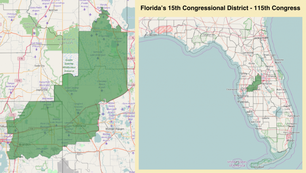 Florida's 15Th Congressional District - Wikipedia - Florida Voting Districts Map