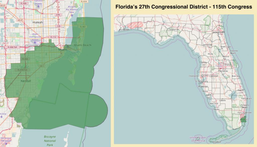 Florida's 27Th Congressional District - Wikipedia - Coral Beach Florida Map