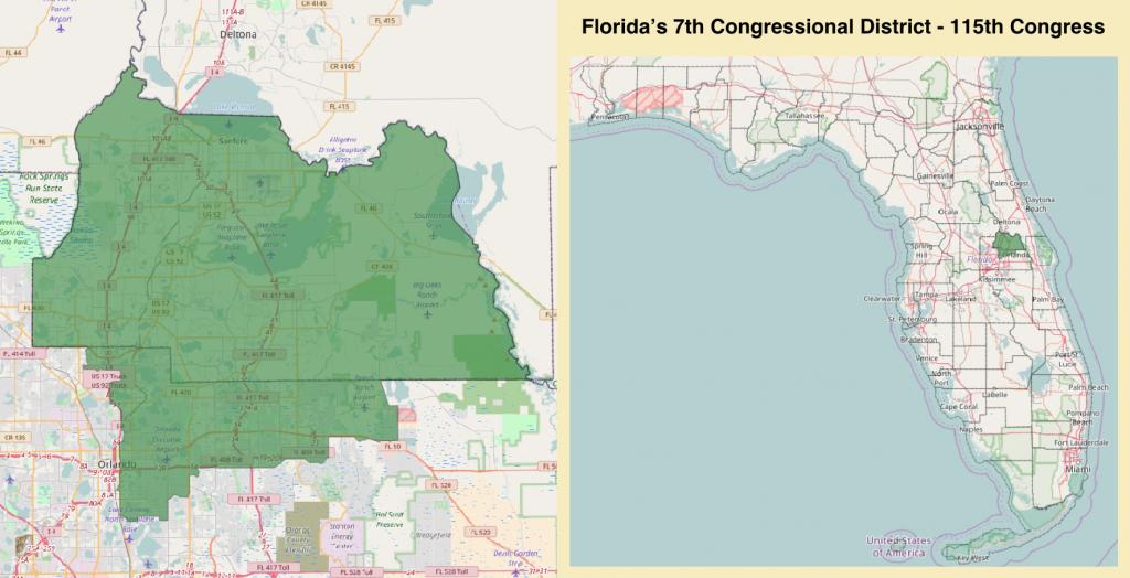 Florida's 7Th Congressional District - Wikipedia - Florida Congressional District Map