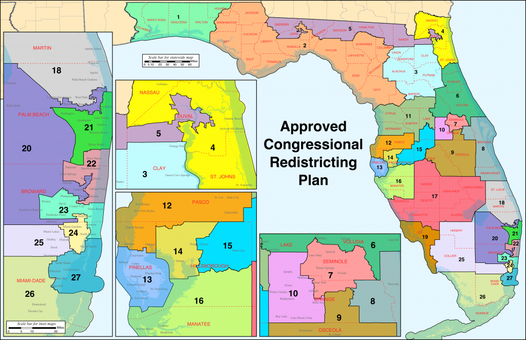 Florida's Congressional Districts - Wikipedia - Florida Congressional District Map