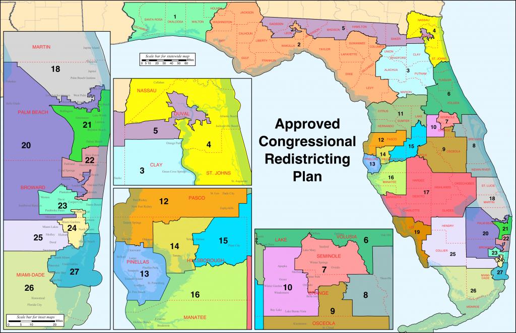 Florida's Congressional Districts - Wikipedia - Port St John Florida Map