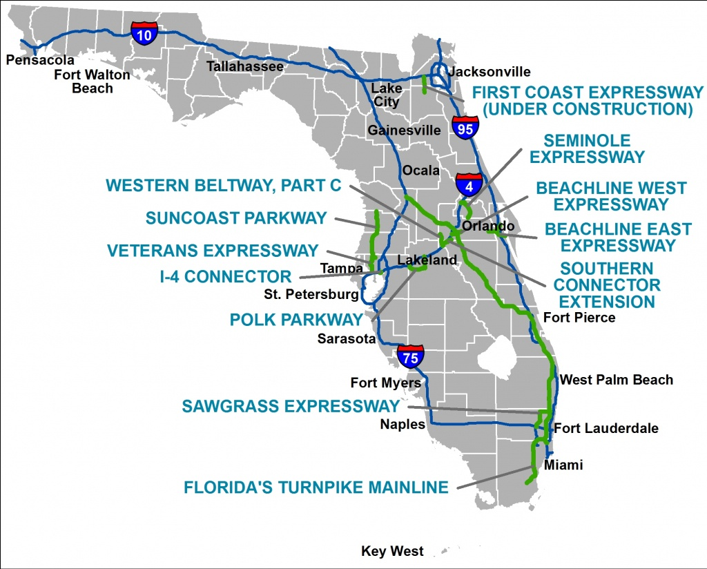 Florida's Turnpike - The Less Stressway - Florida City Gas Coverage Map