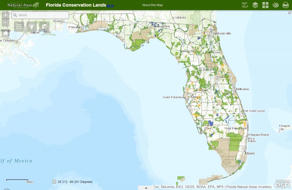 Fnai - Interactive Map Of Florida