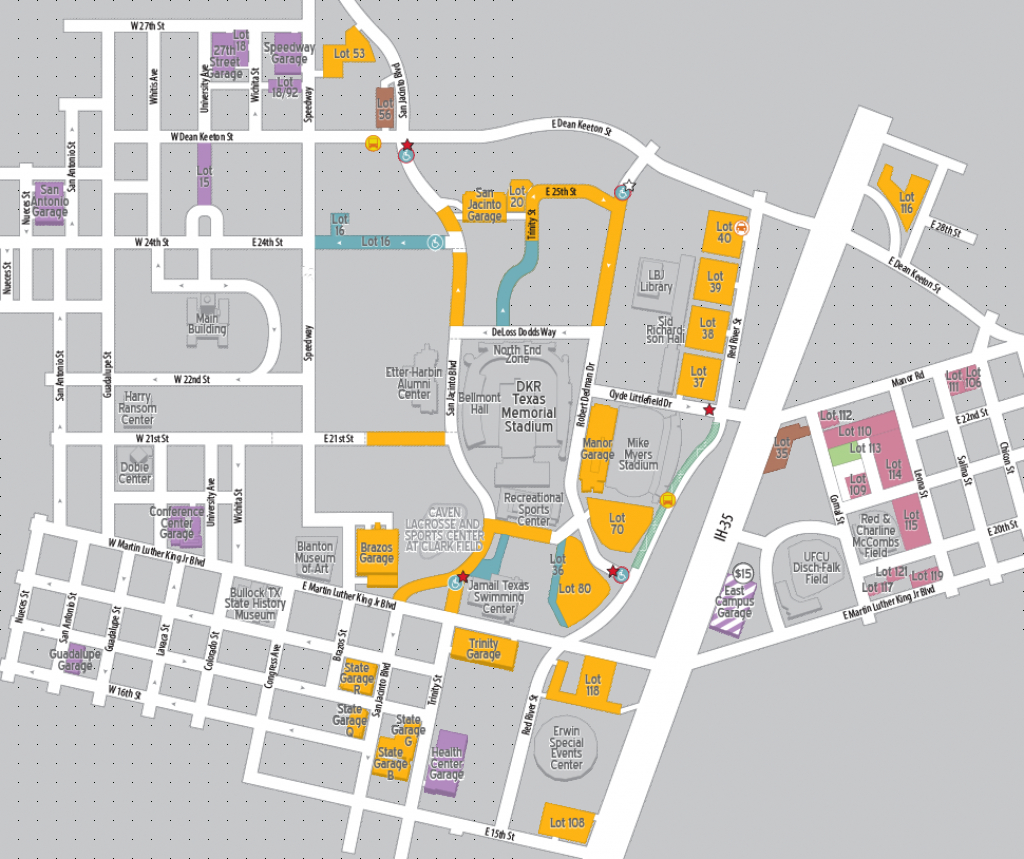 Football Parking 2018 | Parking & Transportation | The University Of - University Of Texas Football Parking Map 2016