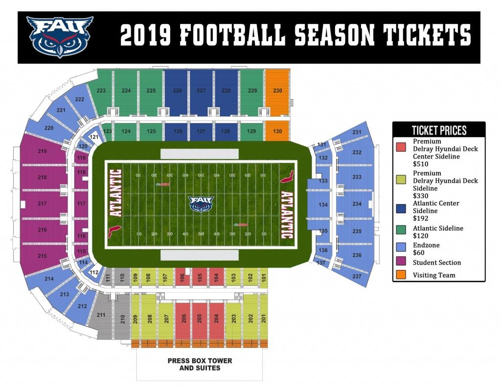 Football Tickets - Florida Atlantic University Athletics - University Of Florida Football Stadium Map