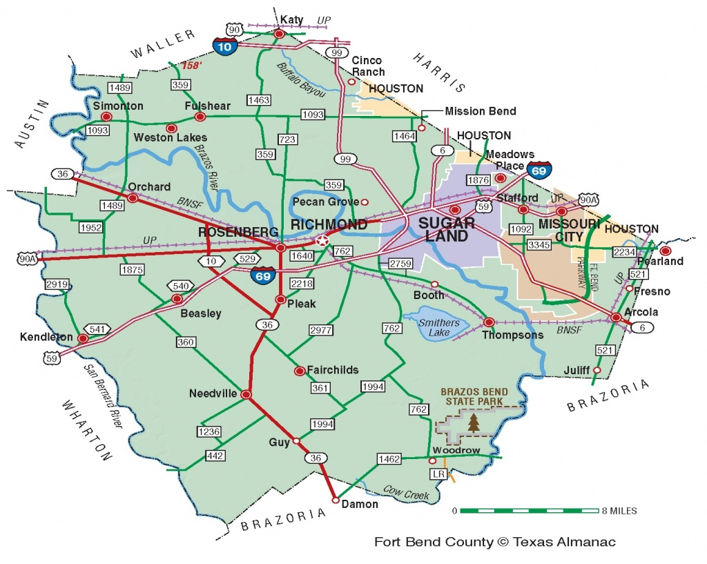Fort Bend County | The Handbook Of Texas Online| Texas State - Katy Texas Map