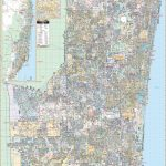 Fort Lauderdale & Broward Co, Fl Wall Map – Kappa Map Group   Street Map Of Fort Lauderdale Florida
