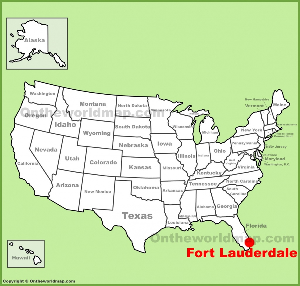 Fort Lauderdale Maps | Florida, U.s. | Maps Of Fort Lauderdale - Where Is Fort Lauderdale Florida On The Map