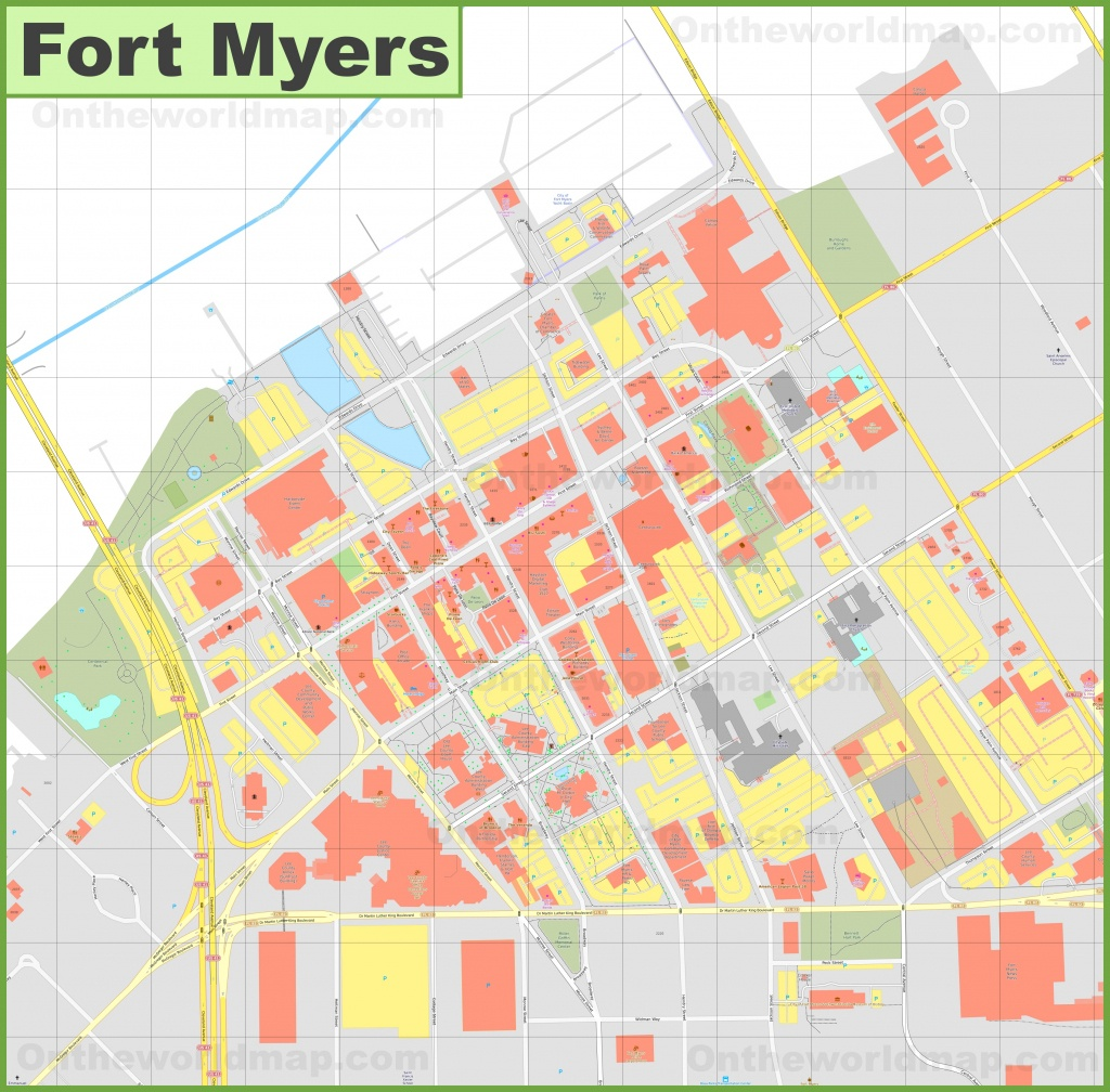 Fort Myers Downtown River District Map - Where Is Fort Myers Florida On A Map
