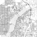 Fort Myers, Florida   Area Map   Light | Hebstreits Sketches   Where Is Fort Myers Florida On A Map