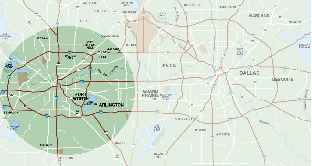 Fort Worth Surrounding Area Map - Fort Worth Tx • Mappery - Fort Worth Texas Map