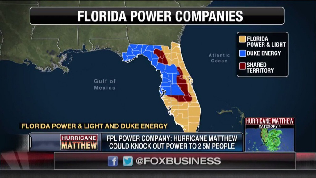 "Fox Business On Twitter: ""just In: As Many As 2.5M Residents Likely - Florida Power Companies Map"