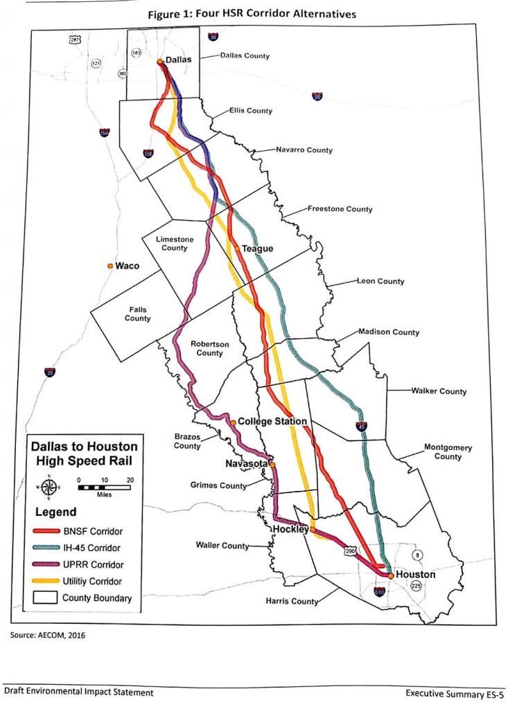 Fra Releases Environmental Impact Statement   News - Texas High Speed Rail Map
