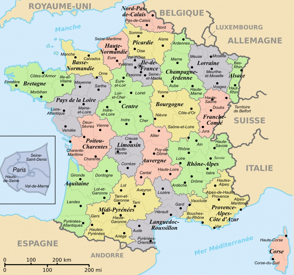 France Maps   Maps Of France - Printable Map Of France With Cities