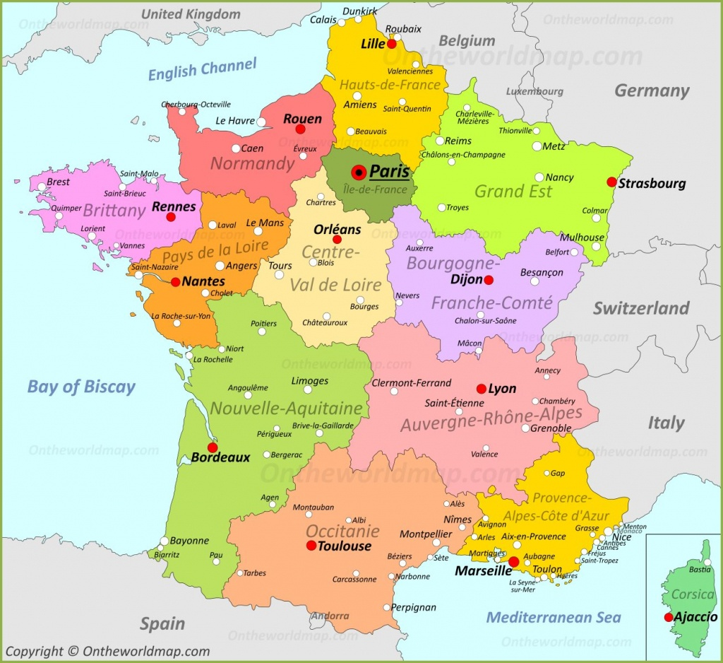 France Maps | Maps Of France - Printable Map Of France
