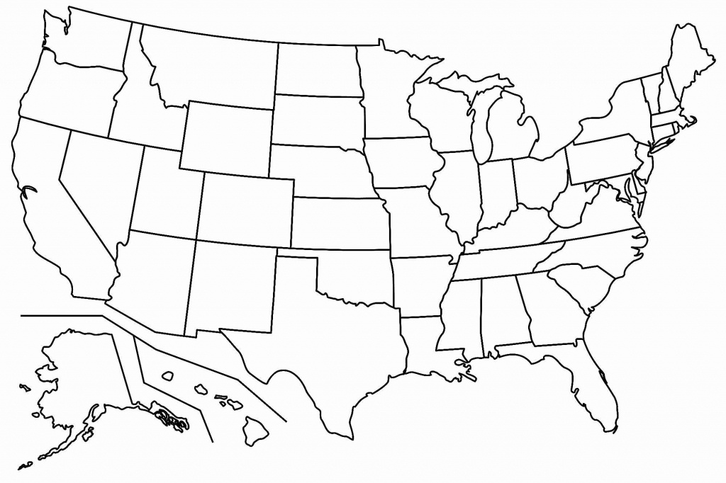 Free Blank Usa Map | Map Of Us Western States - Printable Blank Usa Map