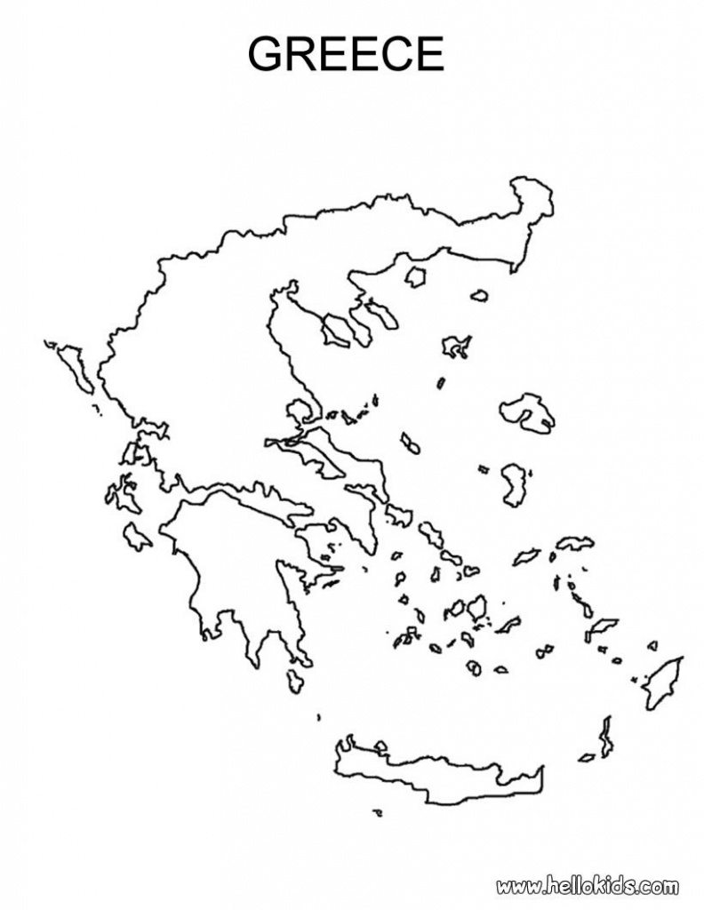 Free Coloring Maps For Kids   Greece Coloring Page   Ελλαδα Μου - Outline Map Of Greece Printable
