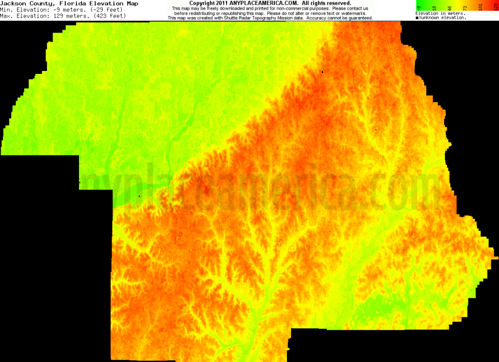 Free Jackson County, Florida Topo Maps & Elevations - Florida Topographic Map Pdf