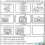 Free Map Skills Worksheets Math Worksheets Free Printable Following   Printable Map Skills Worksheets