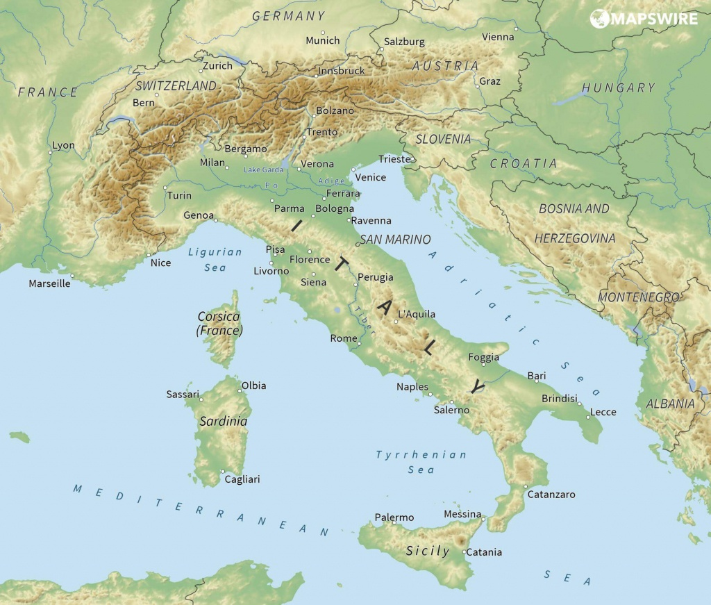 Free Maps Of Italy – Mapswire - Free Printable Map Of Italy