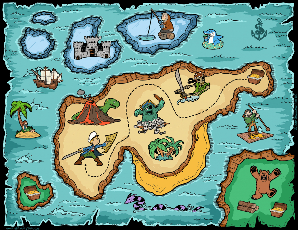Free Pirate Treasure Maps For A Pirate Birthday Party Treasure Hunt - Free Printable Pirate Maps