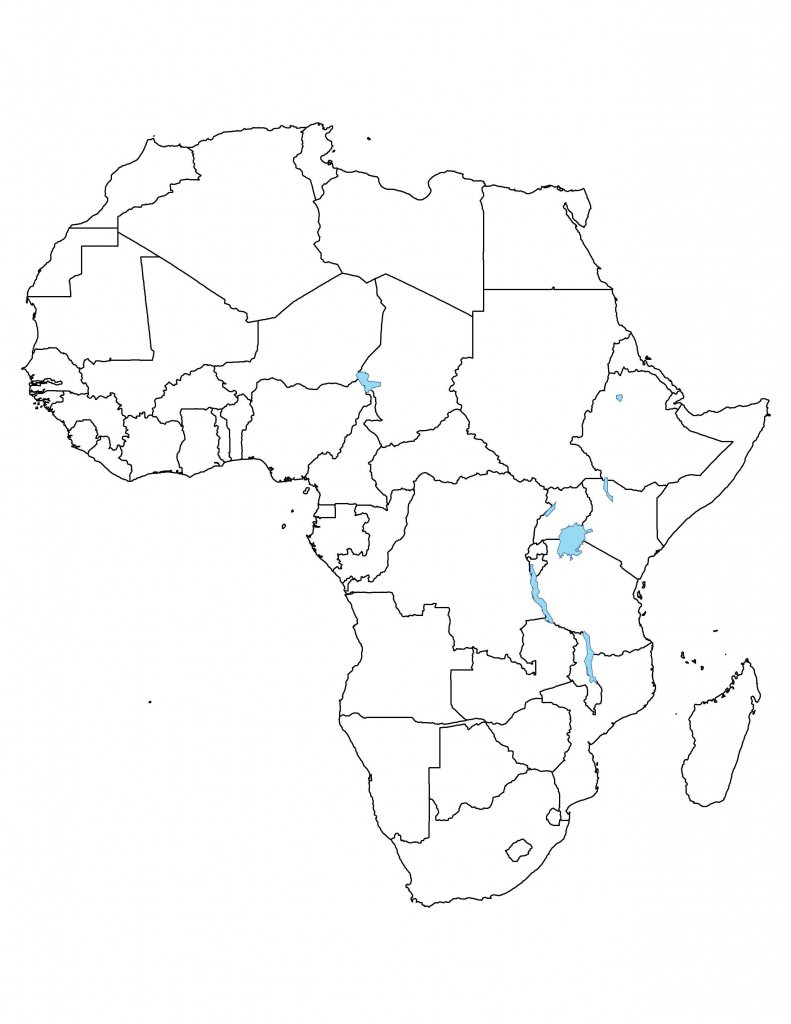 Free Printable Africa Map - Maplewebandpc - Printable Map Of Africa