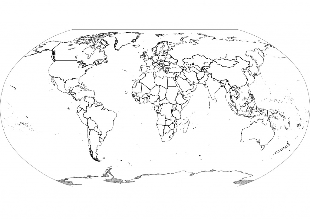 Free Printable Black And White World Map With Countries Labeled And - World Map Black And White Printable With Countries