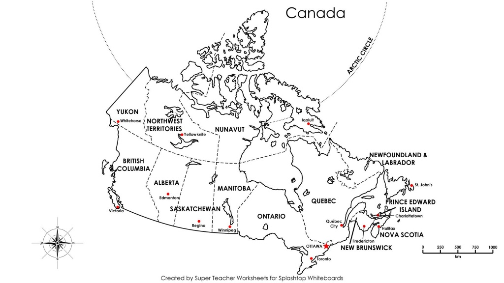 Free Printable Map Canada Provinces Capitals - Google Search - Printable Map Of Canada
