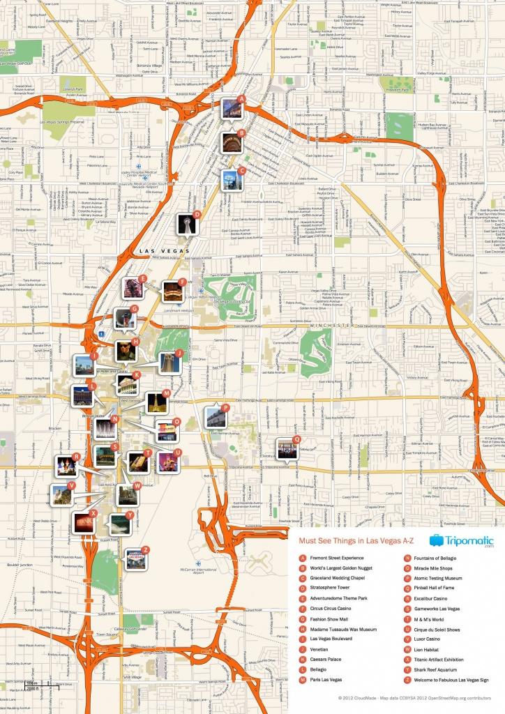 Las Vegas Printable Map   Printable Maps