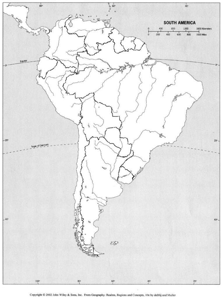 Free Printable Map Of South America And Travel Information - South America Physical Map Printable