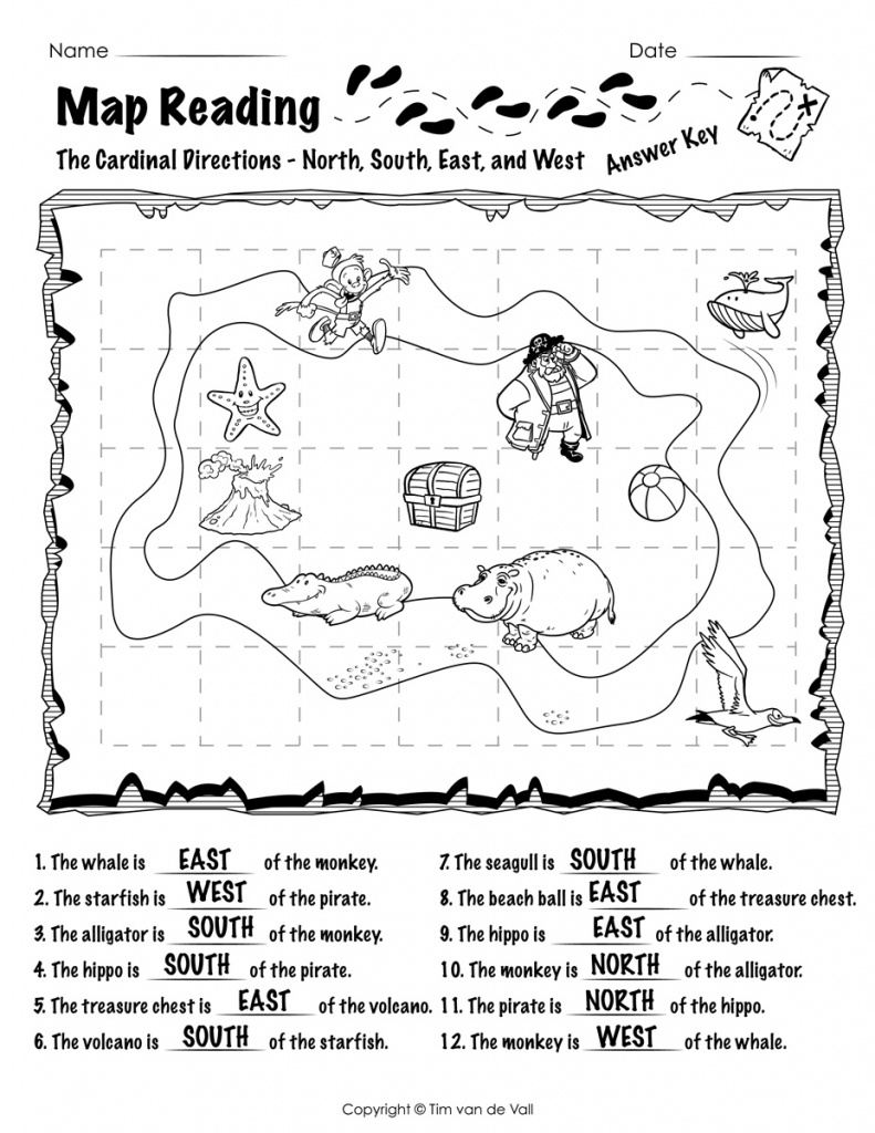 Free Printable Map Reading Worksheets - Tim's Printables - Free Printable Map Worksheets