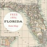 Free Printable Old Map Of Florida From 1885. #map #usa | Maps And   Old Florida Map