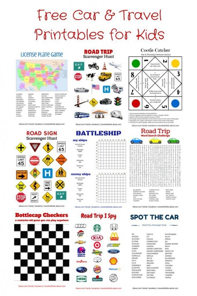Free Printable Travel Games For Kids   Family Road Trips   Road Trip - Printable Travel Maps For Kids