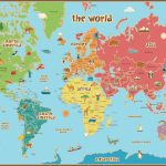 Free Printable World Map For Kids Maps And | Gary's Scattered Mind   Printable World Map For Kids