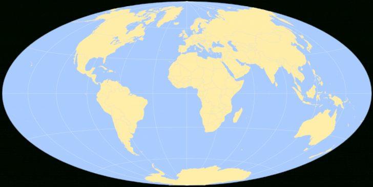 Round World Map Printable