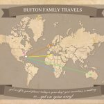 Free Printable World Travel Map   Free Printable Travel Maps