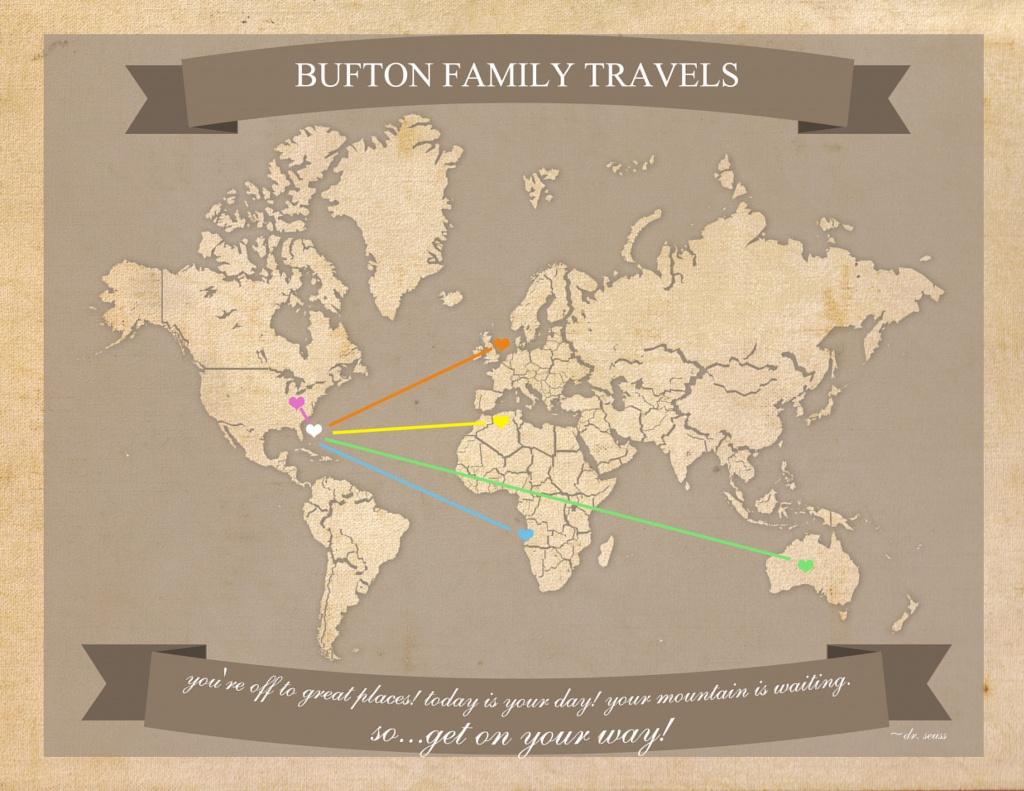 Free Printable World Travel Map - Printable Travel Maps